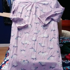 Carter's purple owl night gown sz 6-7